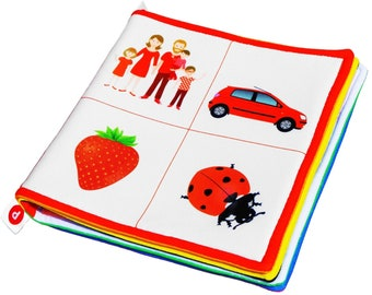 LEARN COLORS, Cloth Book, Baby Learning, Soft Book, Gift for Infant, Book Fabric, Developmental Toy, Infant Book, Baby Development Toy
