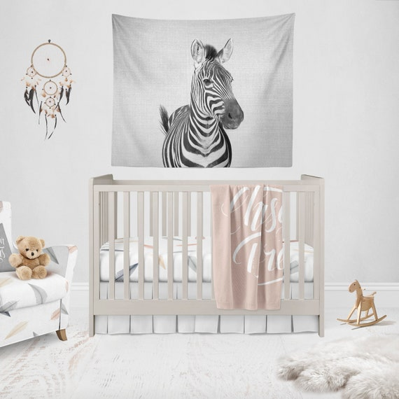 Zebra Wall Tapestry Nursery Decor Animal Lover Baby Shower Etsy