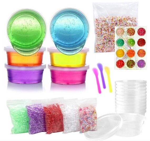 diy crystal slime kit crystal clay mud make your own slime etsy