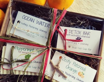 SOAP GIFT BOX with 4 bars of handmade soap