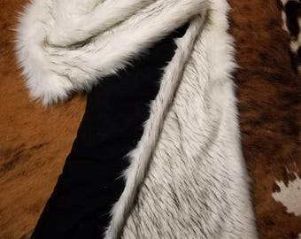 Norwegian Faux Fox Fur & Kaufman Flannel Back 45 x 67 throw