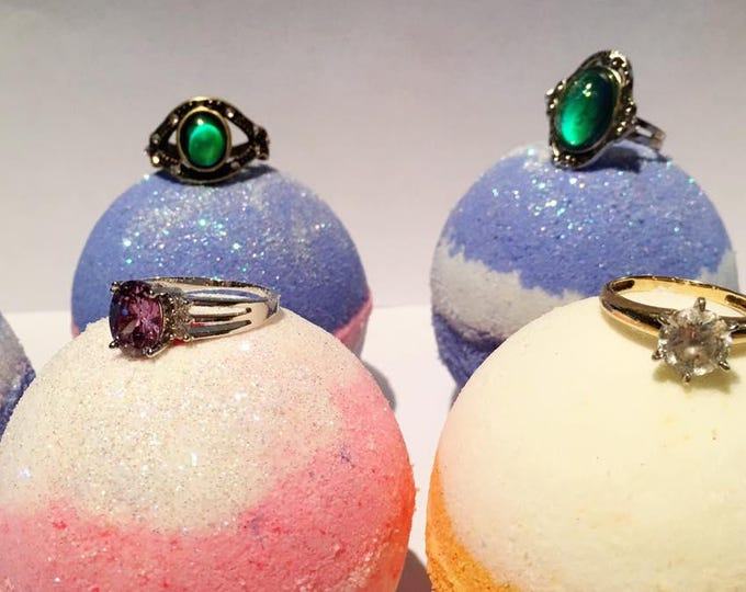 Custom Bling Ring and Moody Ring Bath Bombs