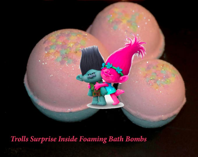 Trolls Inspired Surprise Inside Bath Bomb