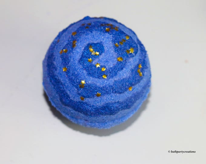 The Stargazer Deep Blue Water, Foaming, Fizzing Bath Bomb