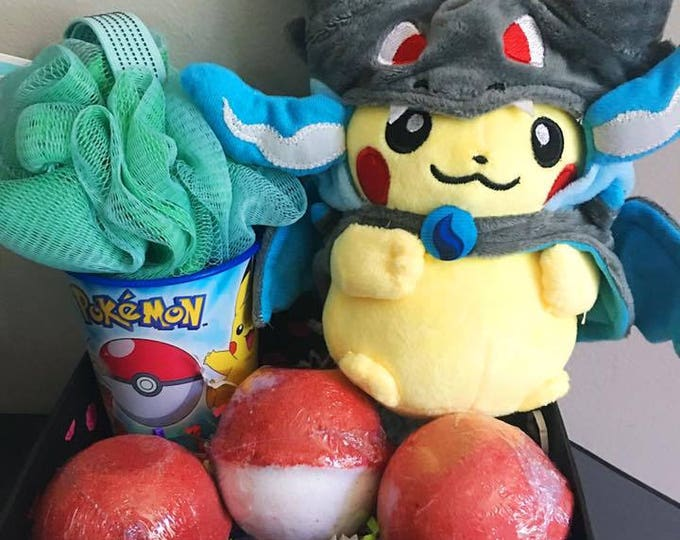 SALE Assorted Pokebomb Mega Pikachu Gift Set or Single Pokebomb