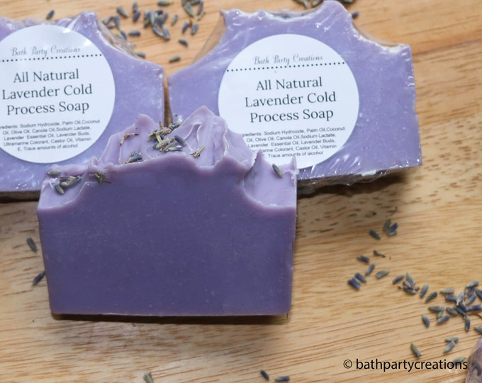 Essential Lavender Cold Process Soap  All Natural, Vegan, Cruelty Free, Gift for Mom, Gift for Her, Easter Gift , Cured