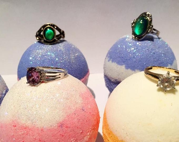 Custom Bling Ring and Moody Ring Bath Bombs
