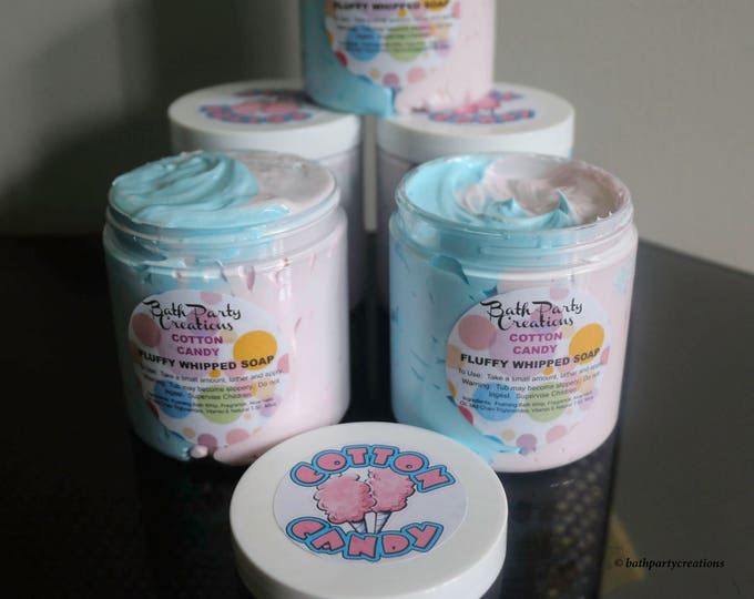 Jumbo Fluffy Whipped Soap Cotton Candy and Assorted