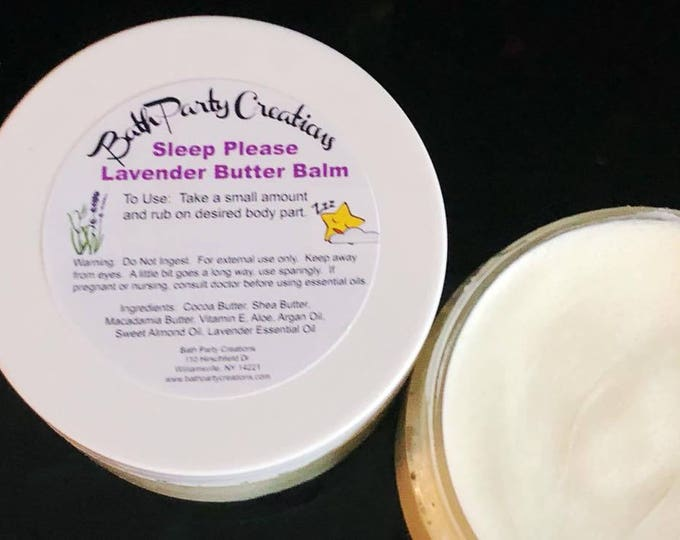 Best Selling Whipped Butter Balms in all New French Lavender Essential Oil, Sleep Please with Cocoa and Shea Butters, Aloe and Vitamin E