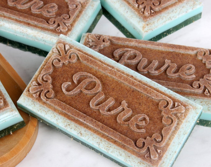 All Natural Goats Milk Gardner's Soap, Loofah Soap, Walnut Soap, for gardners and those that work with their hands.