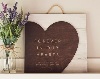 in loving memory plaque