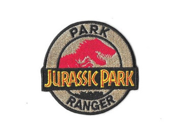 JURASSIC PARK RANGER Iron On Patch Embroidered Badge Jurassic World PT247