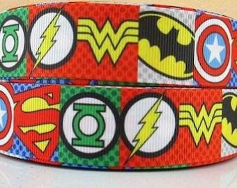 Super Hero 9mm /& 2.5cm Grosgrain Ribbon x 1 Metre crafts//cake//sewing