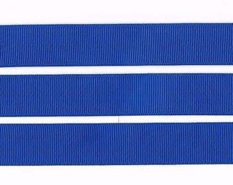 "ELECTRIC BLUE 22MM 7/8"" Grosgrain Ribbon Craft Bow Decoration Metre Yard Cake Celebration Colour RB38"