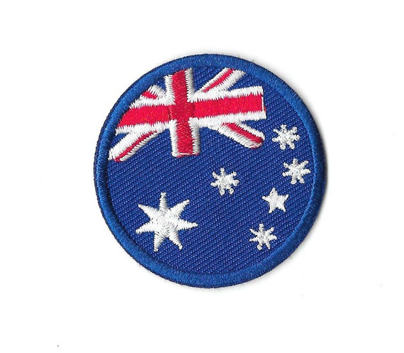 Sew or Iron on Australia Flag Embroidered Patch Badge