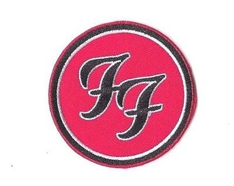 FOO FIGHTERS RED Iron on Patch Embroidered Badge Band Sew Music Rock PT209