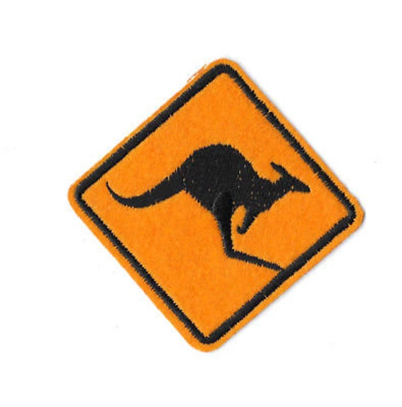 Australia Kangaroo Road Sign Embroidered Patch Badge