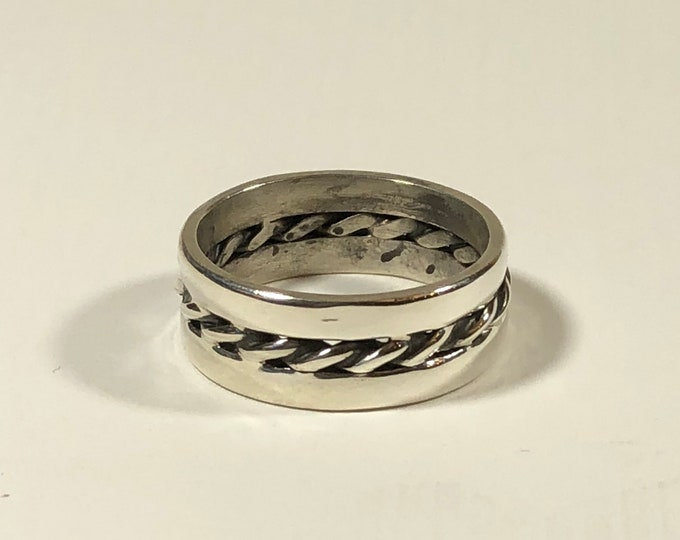 BDSM Ownership Ring, Sterling, Men, Unisex