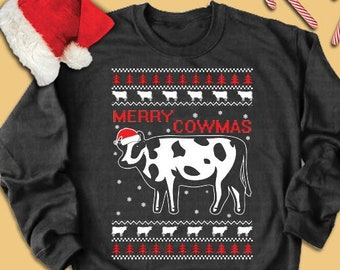 Cow Ugly Sweater Etsy