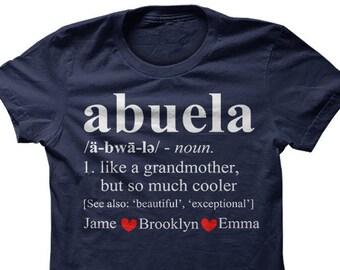 Abuela shirt, abuela shirts, abuela tshirt, abuela t- shirt, abuela gift, personalized shirt, grandma shirt, grandma tshirt, abuela tee