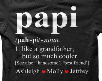 59f54cb04 Papi shirt, papi t shirt, papi custom shirt, papi gift, father's day shirt,  father's day gift, shirt for papi, gift for papi, papi tshirt