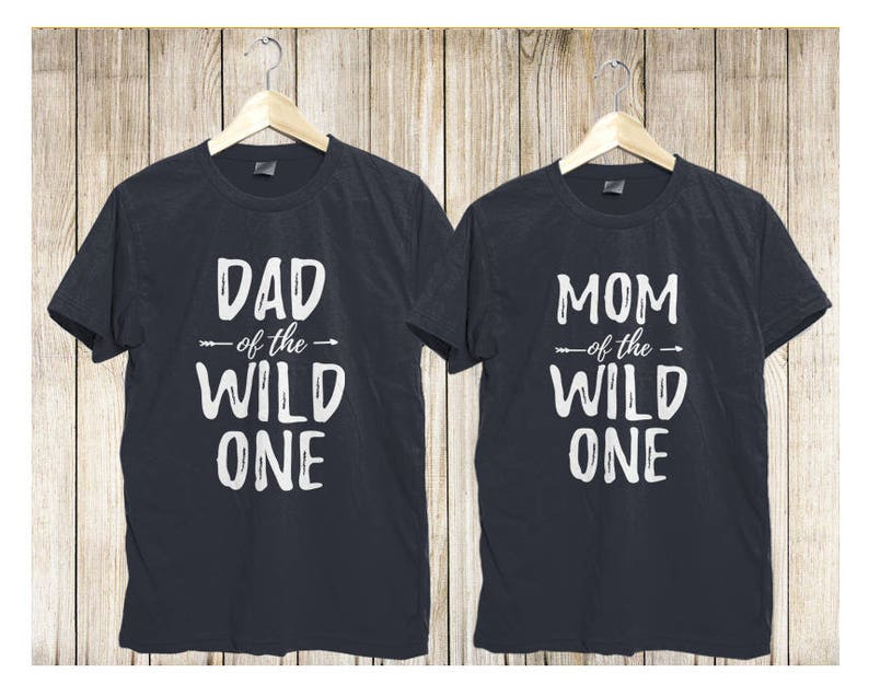 62d538c7 Wild One Family Matching Shirts Wild and One shirts Mom of | Etsy