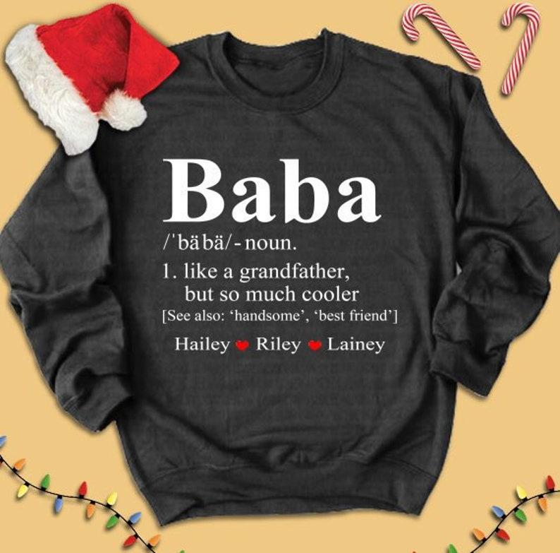 3084f82168fd Baba shirt baba custom name sweatshirt baba custom name | Etsy