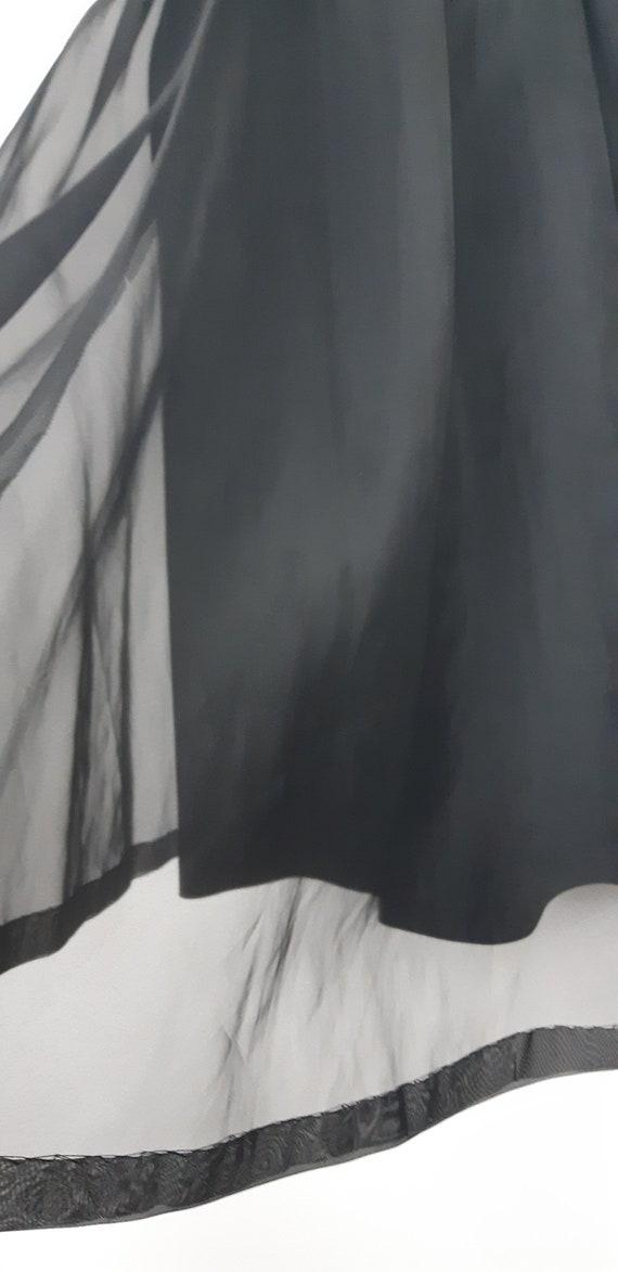 1950s Black chiffon cocktail dress - image 4