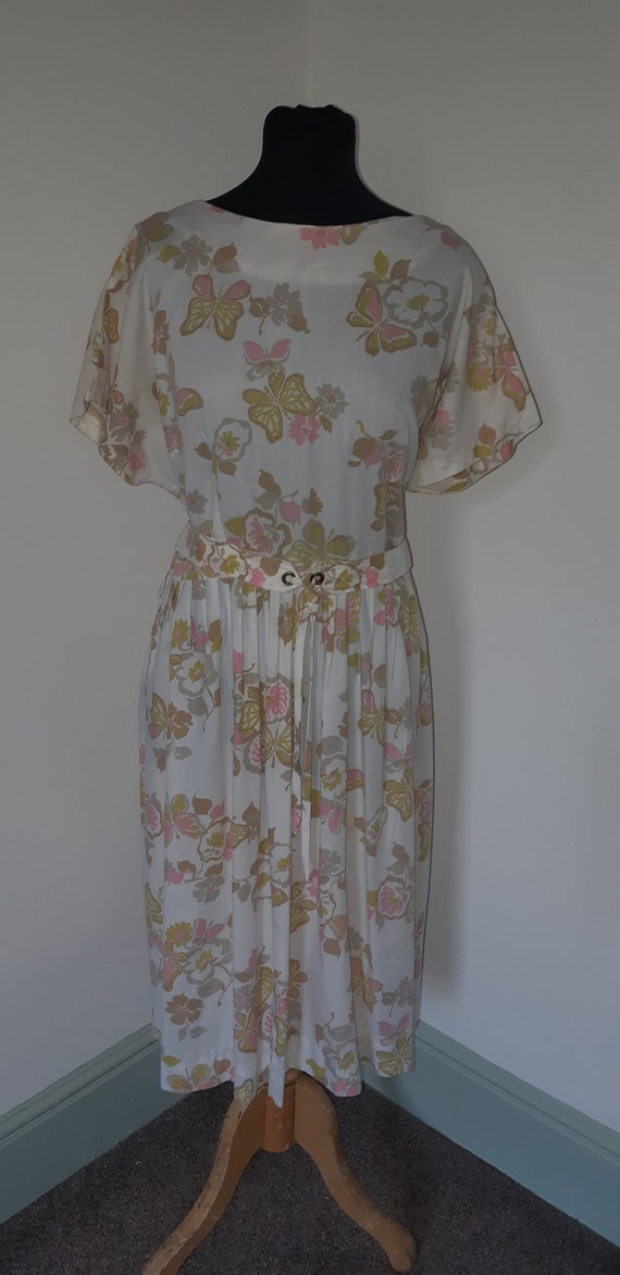 1950s novelty print volup dress