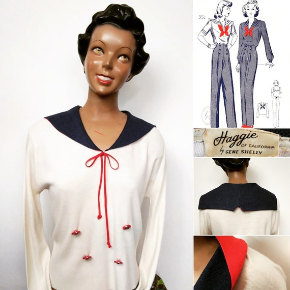 1930s Gene Shelly style sailors sweater