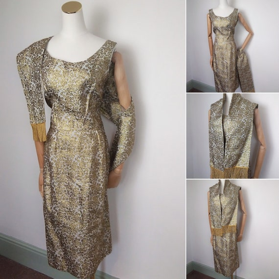 1950s Gold Lame dress