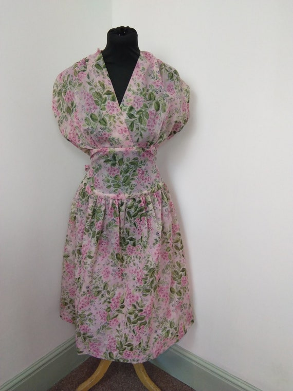 1940s/ 50s novelty print floral dress