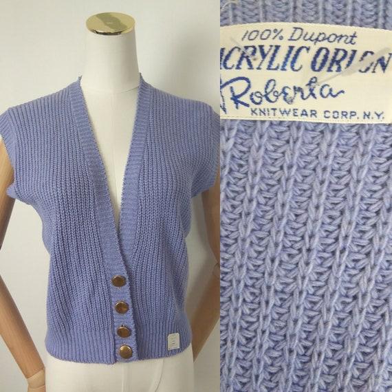 1940s deadstock lilac waistcoat