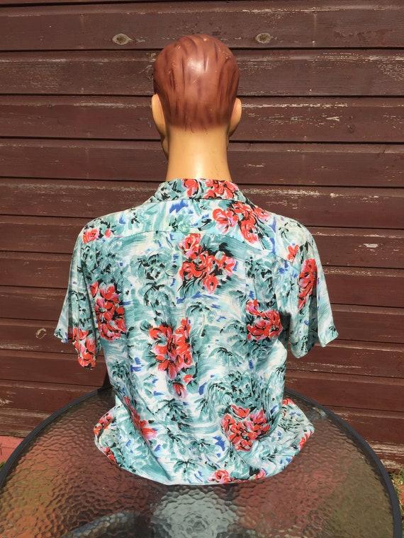 Large vintage rayon  Hawaiian shirt by Aloha - image 2