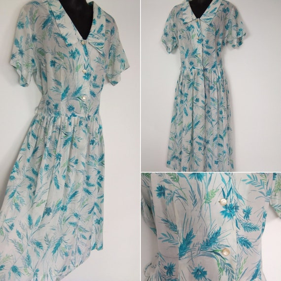1950s novelty print corn dress