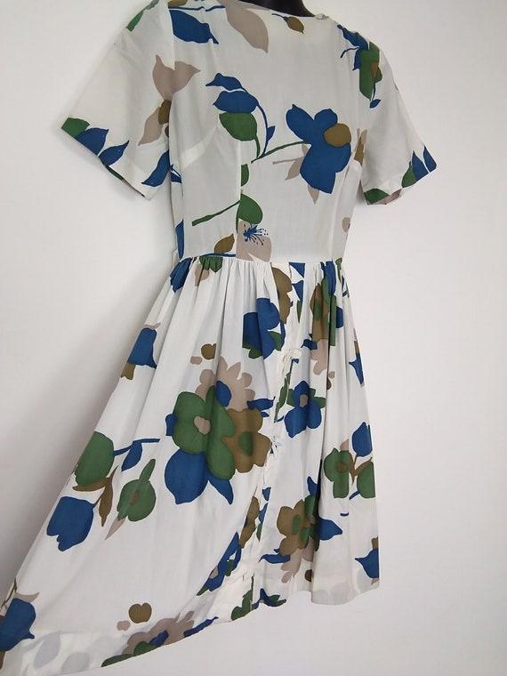 1950s novelty print flower dress