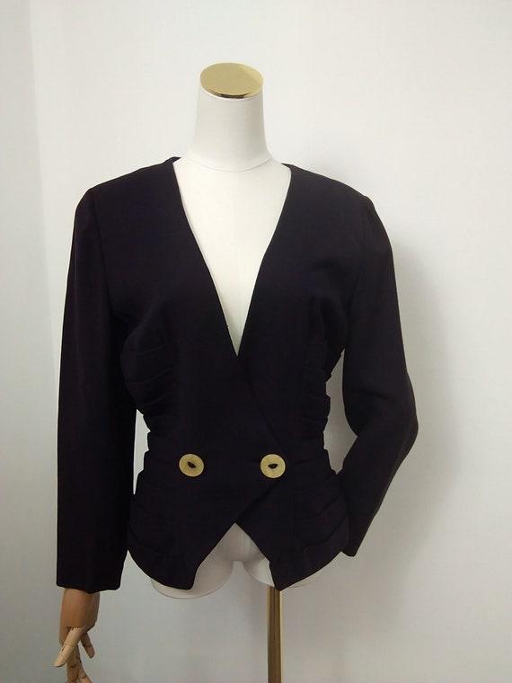 1940s Lilli Ann crepe jacket