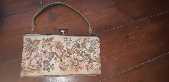 1950s Tapestry box bag