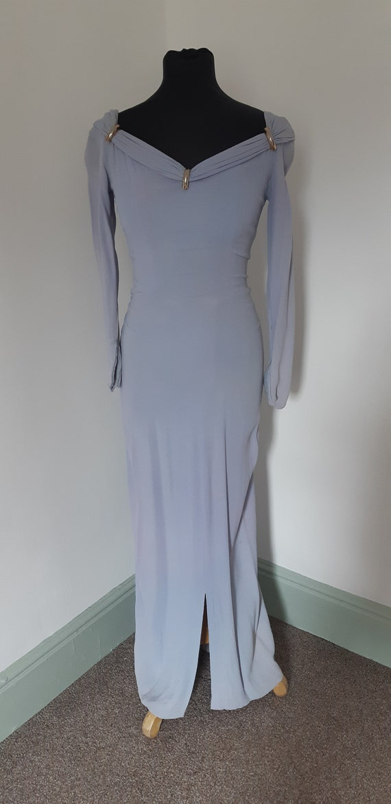 1940s lilac crepe dress