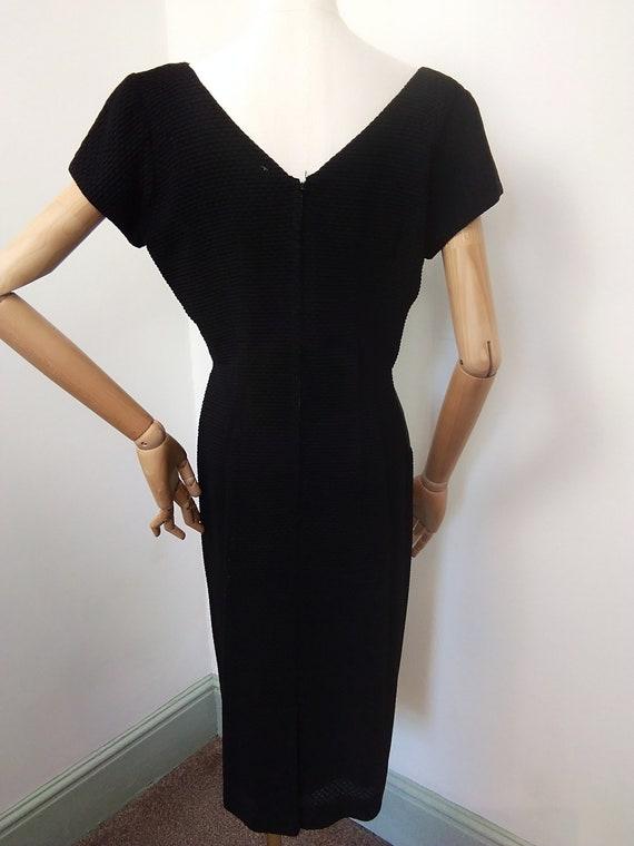 1950s black cocktail dress - image 2