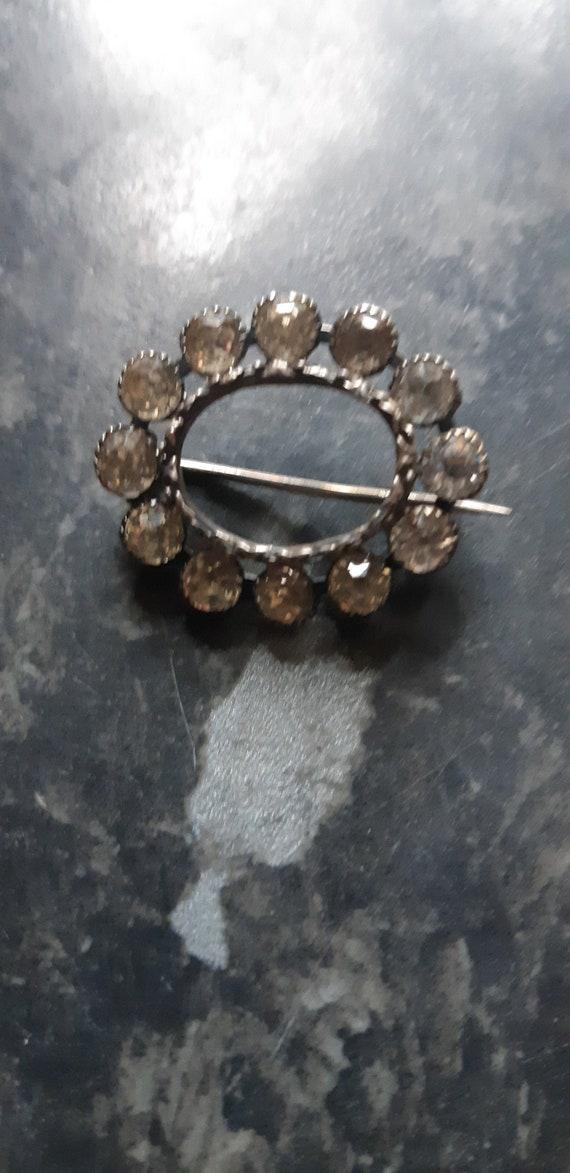 30s/40s Diamante brooch