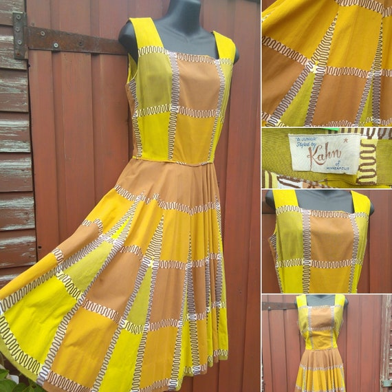 1950s patchwork sundress