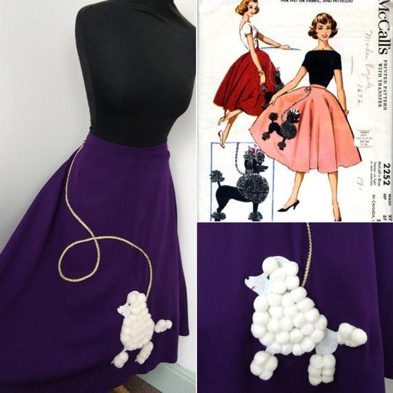 1950s Poodle novelty skirt