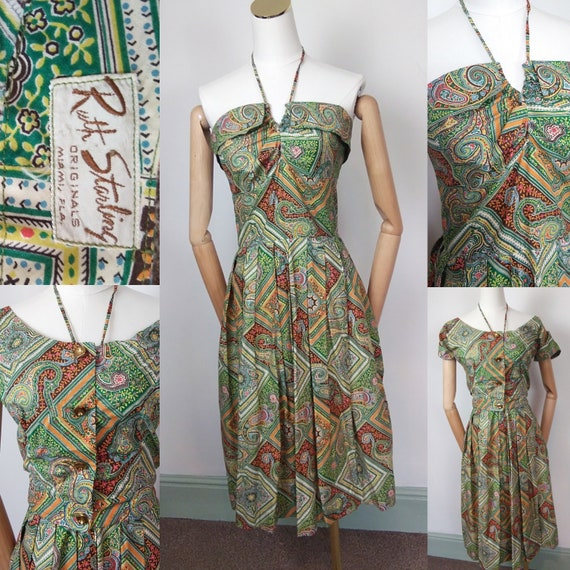 1950s halter neck dress and matching bolero