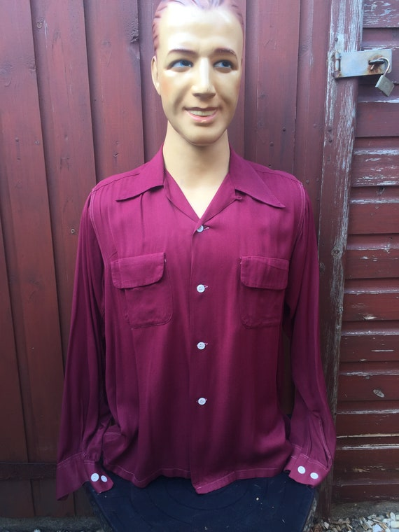1940s gabardine shirt
