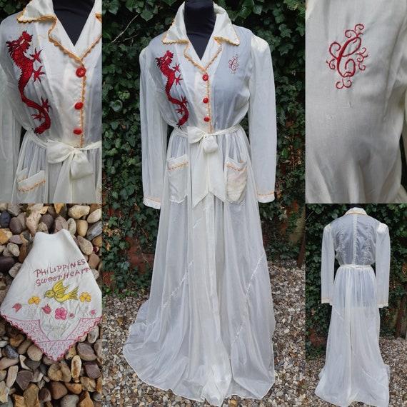WW2 Parachute silk dressing gown