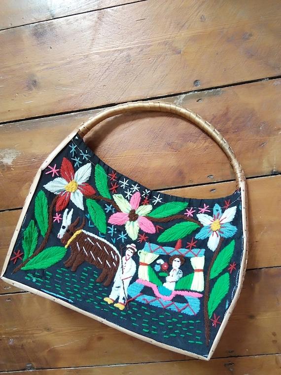 1940s/50s Hawaiian wicker bag