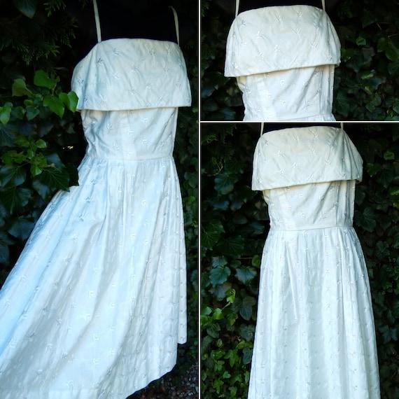 1950s white  sun dress