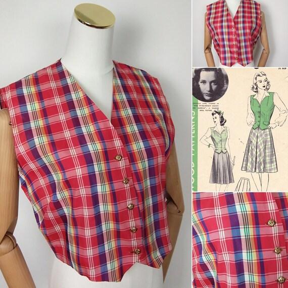 1940s Tartan waistcoat