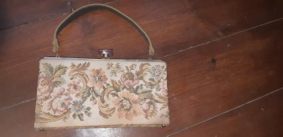 1950s Tapestry box bag